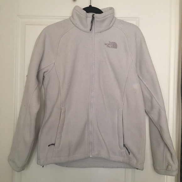 The North Face Jackets & Blazers - North Face Fleece Zip Up Jacket Gray Cream M
